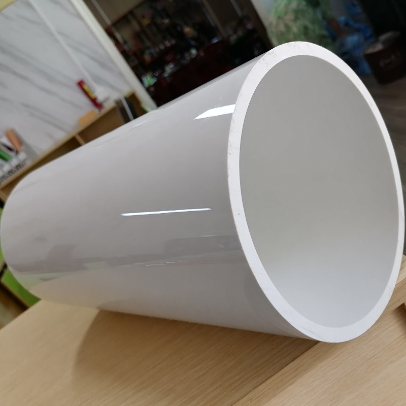 Custom mirror-effect white Extruded pvc plastic tubing pipe made in China