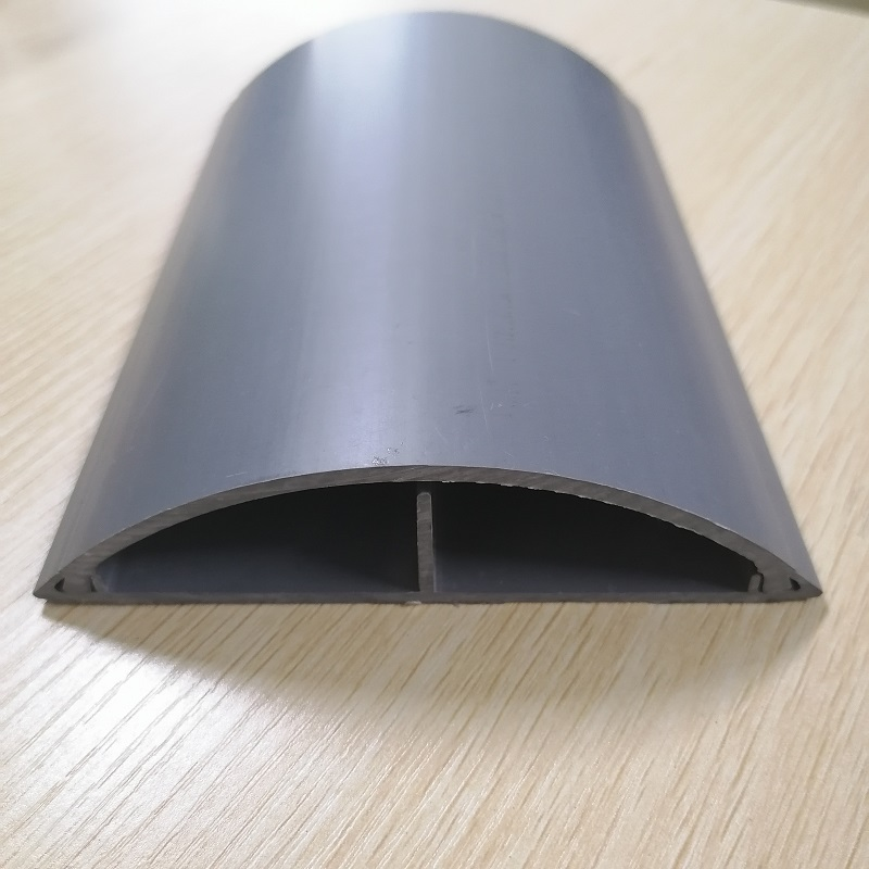 Safety pvc plastic floor cable trunking wire hider floor Cord Cover Heavy Duty Cable Protector 2 Channels