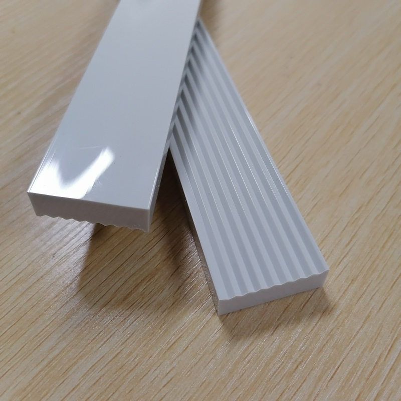 bright finish pvc plastic strip mirror polish pvc slat plastic bar