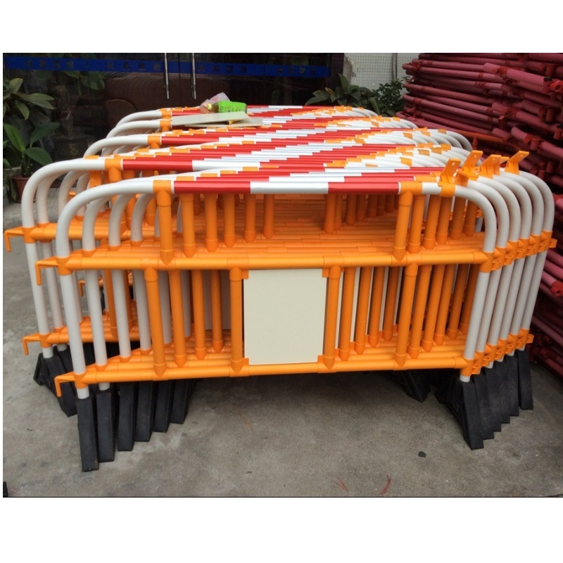 Light weight reflective PVC plastic barricade concrete barrier traffic road barrier fencing
