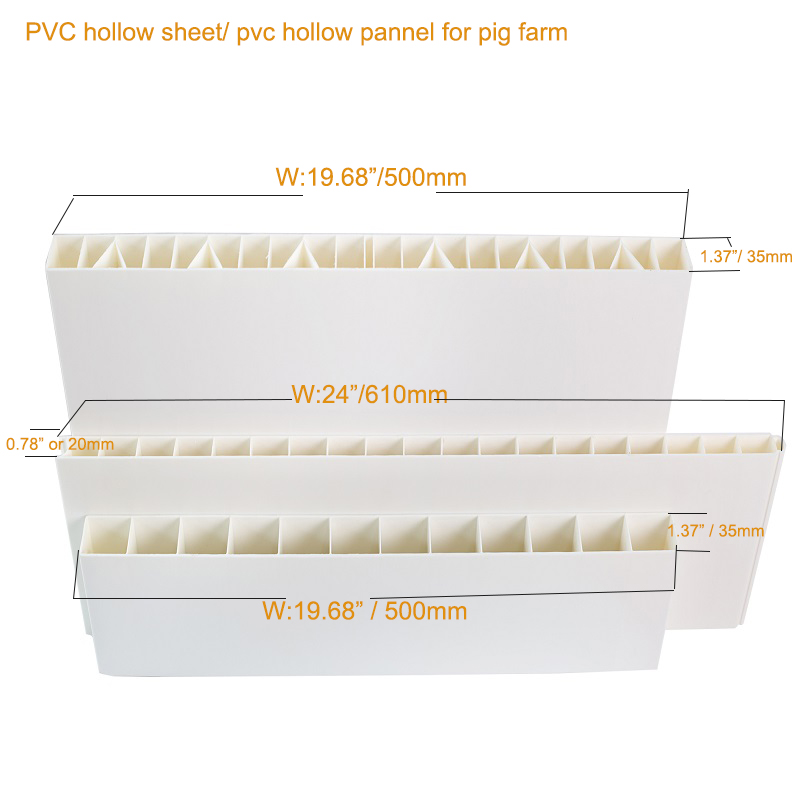 PVC hollow board fences  for livestock breeding pig farm plastic dividing boards PVC hollow panel
